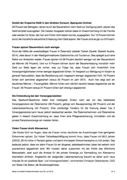 Swiss Life Select:  GfK-Studie zur Steuerreform, Seite 2/3, komplettes Dokument unter http://boerse-social.com/static/uploads/file_1520_swiss_life_select_gfk-studie_zur_steuerreform.pdf (28.07.2016)