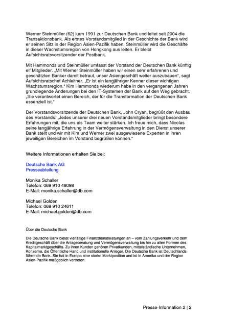 Deutsche Bank: Neue Vorstände, Seite 2/2, komplettes Dokument unter http://boerse-social.com/static/uploads/file_1522_deutsche_bank_neue_vorstande.pdf (28.07.2016)
