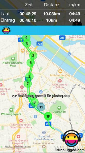 10km via http://www.runplugged.com/app (28.07.2016)