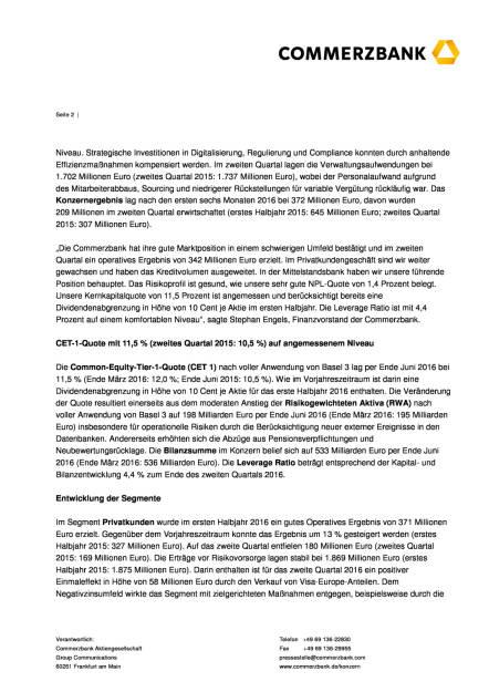 Commerzbank: gute Marktposition in schwierigem Umfeld, Seite 2/8, komplettes Dokument unter http://boerse-social.com/static/uploads/file_1539_commerzbank_gute_marktposition_in_schwierigem_umfeld.pdf (02.08.2016)