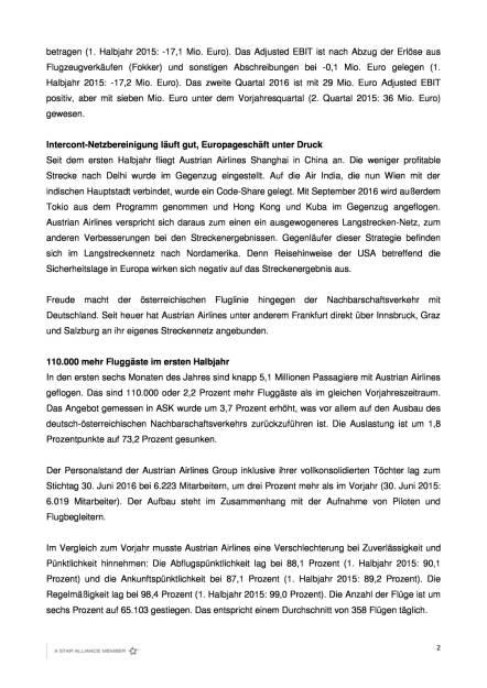 Austrian Airlines: Finanzergebnis 1. Halbjahr 2016, Seite 2/4, komplettes Dokument unter http://boerse-social.com/static/uploads/file_1543_austrian_airlines_finanzergebnis_1_halbjahr_2016.pdf (02.08.2016)
