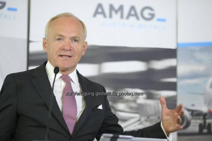 Helmut Wieser, Vorstandsvorsitzender der AMAG Austria Metall AG : AMAG Austria Metall AG im 1. Halbjahr 2016 : Rekordabsatz und deutliche Ergebnissteigerung : Fotocredit: AMAG Austria Metall AG/APA-Fotoservice/Schedl