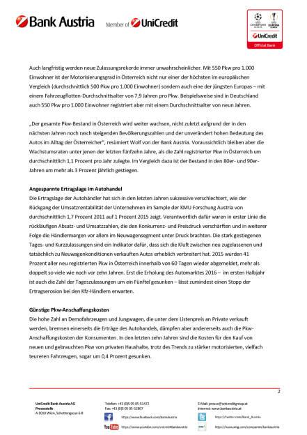Bank Austria: Kfz-Handel beschleunigt 2015 und 2016, Seite 2/3, komplettes Dokument unter http://boerse-social.com/static/uploads/file_1548_bank_austria_kfz-handel_beschleunigt_2015_und_2016.pdf (02.08.2016)