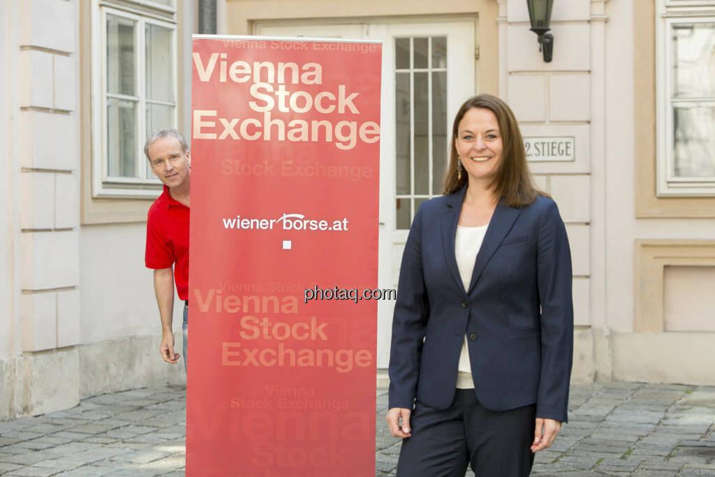 Christian Drastil, Anita Schatz (Wiener Börse), © finanzmarktfoto/Martina Draper (23.04.2013)