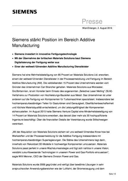 Siemens stärkt Position im Bereich Additive Manufacturing, Seite 1/3, komplettes Dokument unter http://boerse-social.com/static/uploads/file_1555_siemens_starkt_position_im_bereich_additive_manufacturing.pdf (02.08.2016)