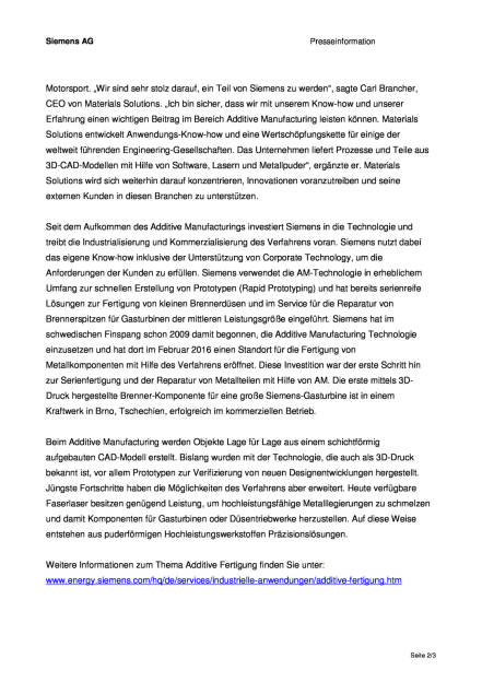 Siemens stärkt Position im Bereich Additive Manufacturing, Seite 2/3, komplettes Dokument unter http://boerse-social.com/static/uploads/file_1555_siemens_starkt_position_im_bereich_additive_manufacturing.pdf (02.08.2016)