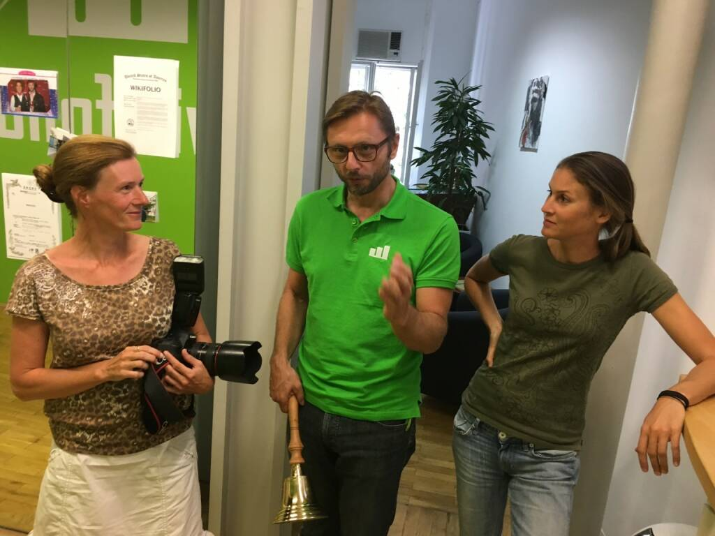 Martina Draper bei wikifolio mit Andreas Kern und Christina Öhler (03.08.2016)