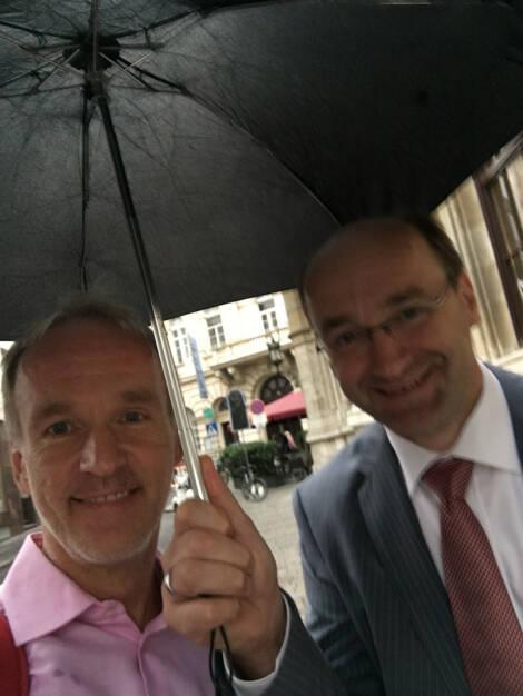 Mit Ernst Huber im Regen (09.08.2016)