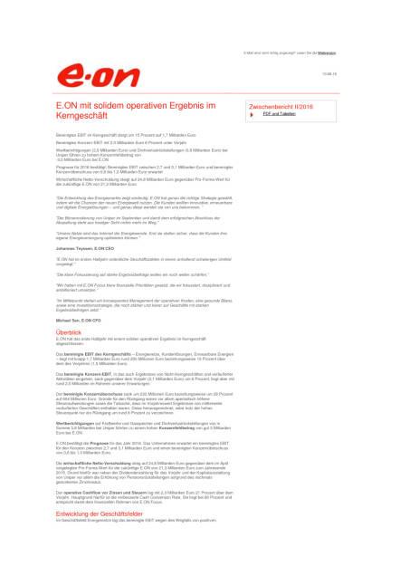 E.ON mit solidem operativen Ergebnis im Kerngeschäft, Seite 1/2, komplettes Dokument unter http://boerse-social.com/static/uploads/file_1595_eon_mit_solidem_operativen_ergebnis_im_kerngeschaft.pdf (10.08.2016)