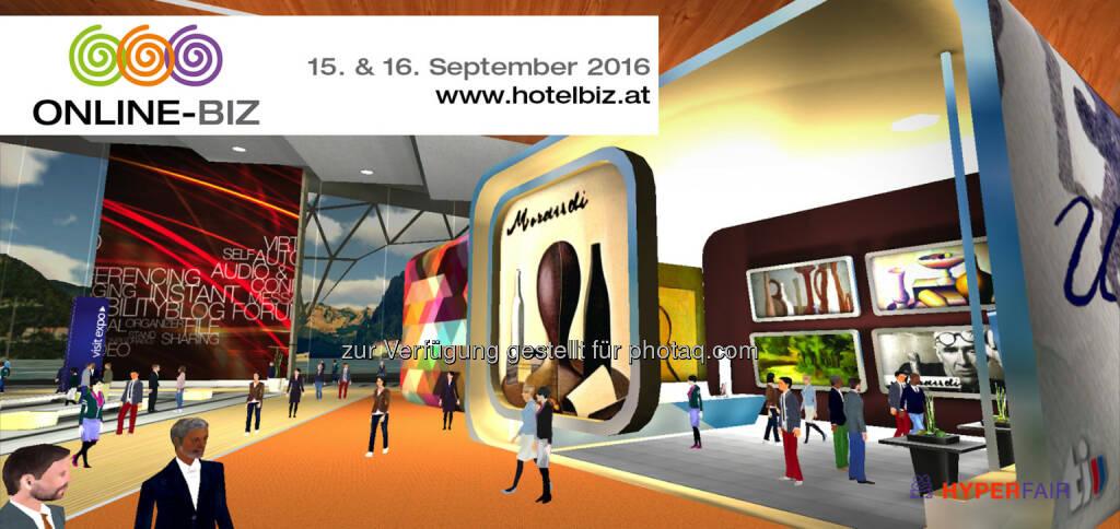 """Die """"Online-BIZ"""" am 15. & 16. September ist die erste virtuelle Messe zur Planung von Geschäftsreisen, Seminaren, Incentives und Events : Fotocredit: n.b.s hotels & locations   hyperfair, Inc. (10.08.2016)"""