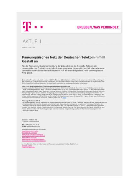 Deutsche Telekom: Paneuropäisches Netz nimmt Gestalt an, Seite 1/1, komplettes Dokument unter http://boerse-social.com/static/uploads/file_1600_deutsche_telekom_paneuropaisches_netz_nimmt_gestalt_an.pdf (10.08.2016)