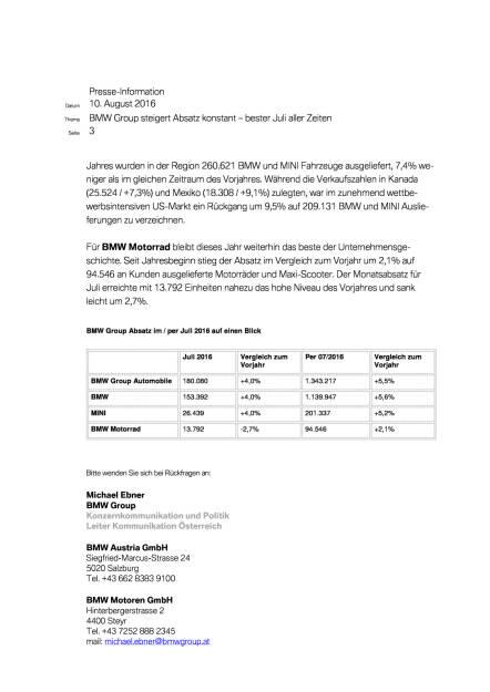 BMW Group: Vertriebsmeldung Juli 2016, Seite 3/4, komplettes Dokument unter http://boerse-social.com/static/uploads/file_1599_bmw_group_vertriebsmeldung_juli_2016.pdf (10.08.2016)