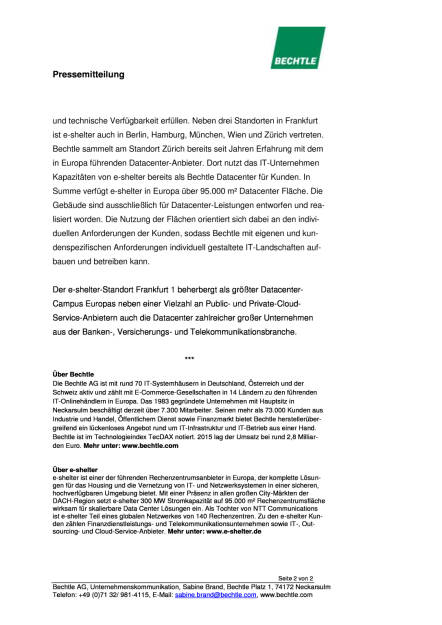 Bechtle erneuert Datacenter und erweitert Cloud-Portfolio, Seite 2/2, komplettes Dokument unter http://boerse-social.com/static/uploads/file_1601_bechtle_erneuert_datacenter_und_erweitert_cloud-portfolio.pdf (10.08.2016)