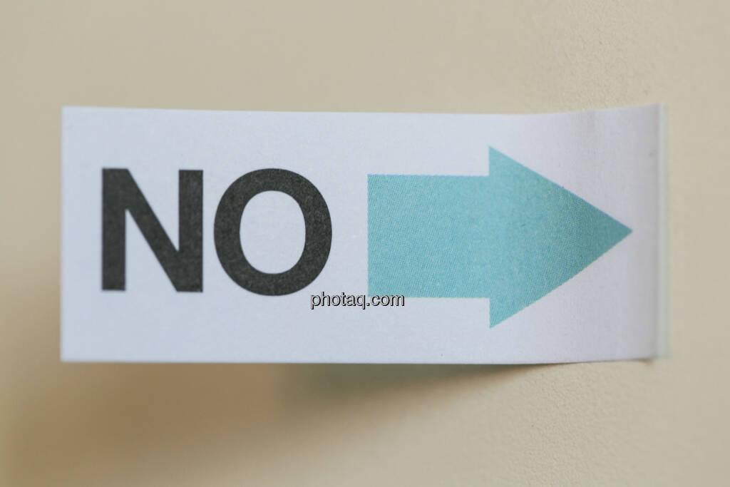 Nein, No, © finanzmarktfoto/Martina Draper (24.04.2013)