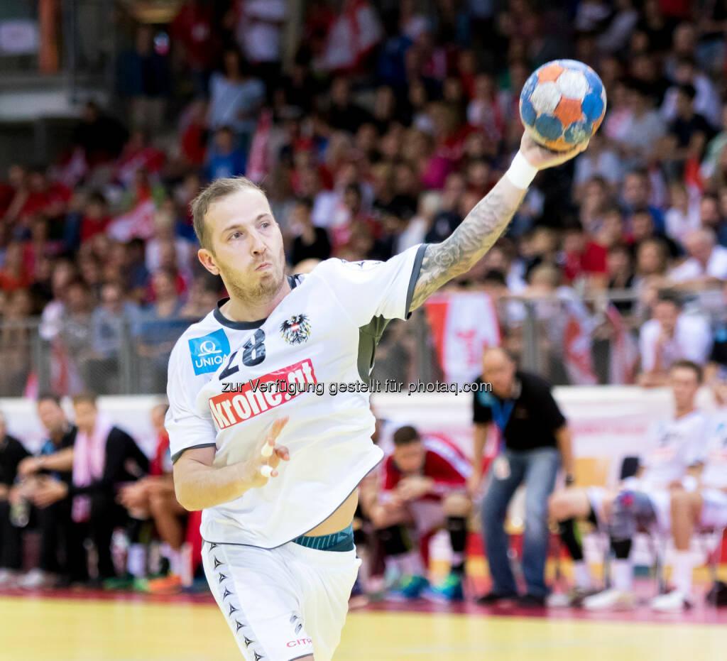 Robert Weber (Handballspieler) : Neuer Partner für ÖHB, ÖEHV und ÖBV : the sportsman vereinbart umfassende Kooperation mit krone.at : Fotocredit: Krone.at/ÖHB/Pucher, © Aussendung (18.08.2016)