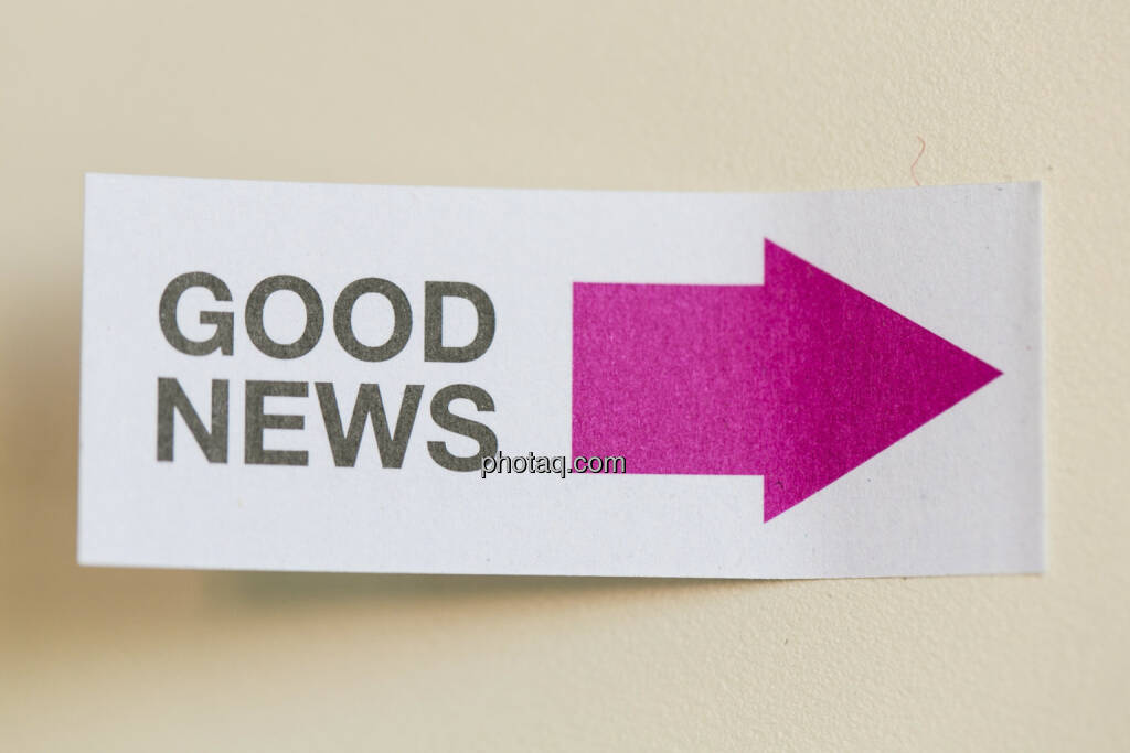 Gute Nachrichten, © finanzmarktfoto/Martina Draper (24.04.2013)