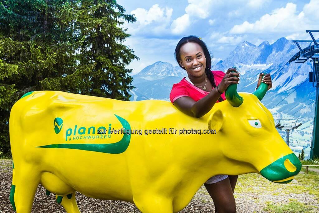 Bulle Bullish: Sabrina Simader vom kenianischen Skiteam (C) Brandlion, Ch. Buchegger, © Aussendung (19.08.2016)