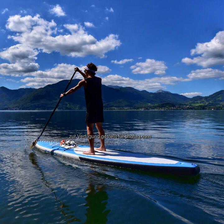 Florian Neuschwander, SUP, Stand, paddeln, See