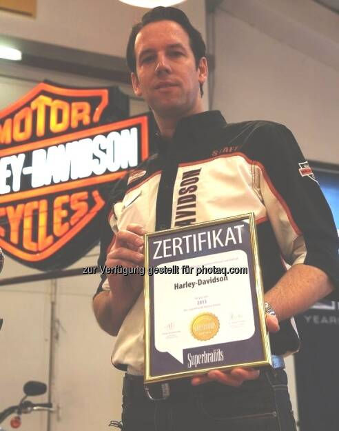 Harley-Davidson ist Superbrand 2013, im Bild Christoph Haas (c) Eder (24.04.2013)