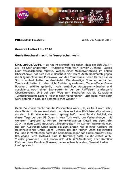 Generali Ladies Linz 2016 , Seite 1/2, komplettes Dokument unter http://boerse-social.com/static/uploads/file_1683_generali_ladies_linz_2016.pdf