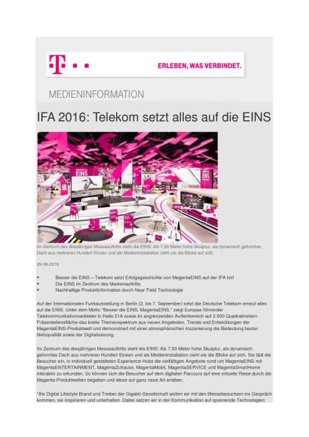 Deutsche Telekom: IFA 2016, Seite 1/2, komplettes Dokument unter http://boerse-social.com/static/uploads/file_1684_deutsche_telekom_ifa_2016.pdf