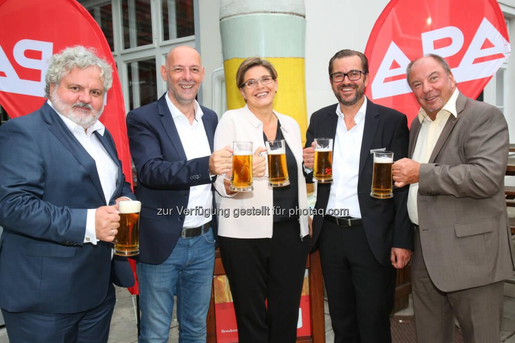 Johannes Bruckenberger, Marcus Hebein, Karin Thiller, Clemens Pig, Werner Müllner (alle APA), © APA-Fotoservice/Ludwig Schedl (30.08.2016)