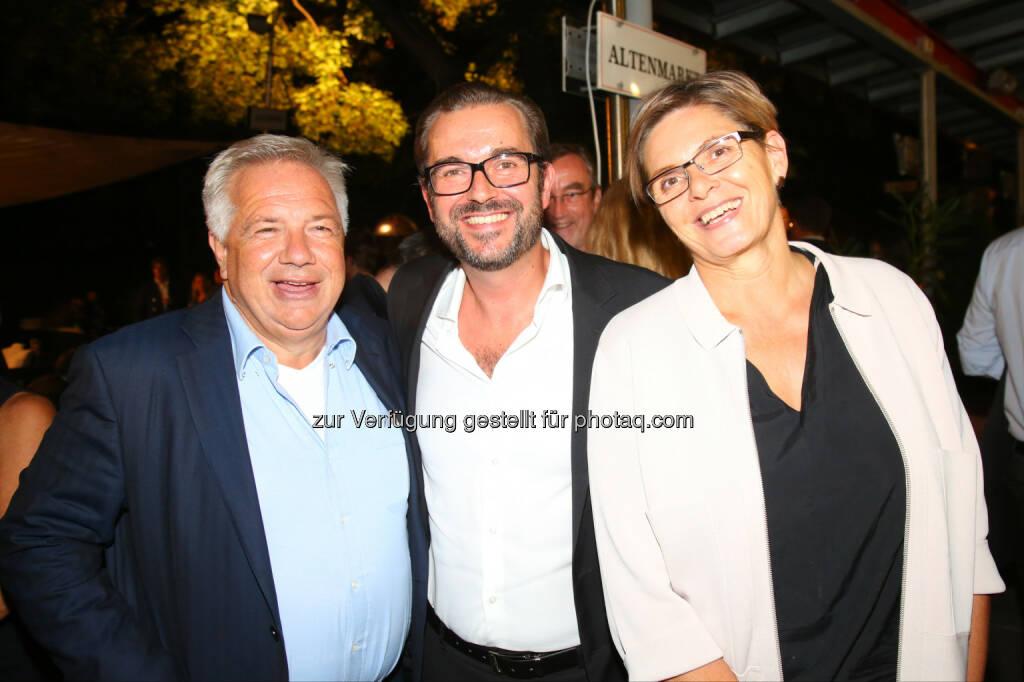Wolfgang Fellner (Mediengruppe Österreich), Clemens Pig und Karin Thiller (APA), © APA-Fotoservice/Ludwig Schedl (30.08.2016)