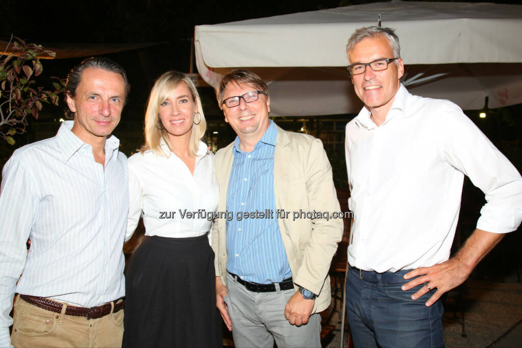 Christian Rainer (Profil), Nadja Bernhard (ORF), Fritz Dittlbacher (ORF), Lothar Lockl (Lothar Lockl Strategie GmbH), © APA-Fotoservice/Ludwig Schedl (30.08.2016)