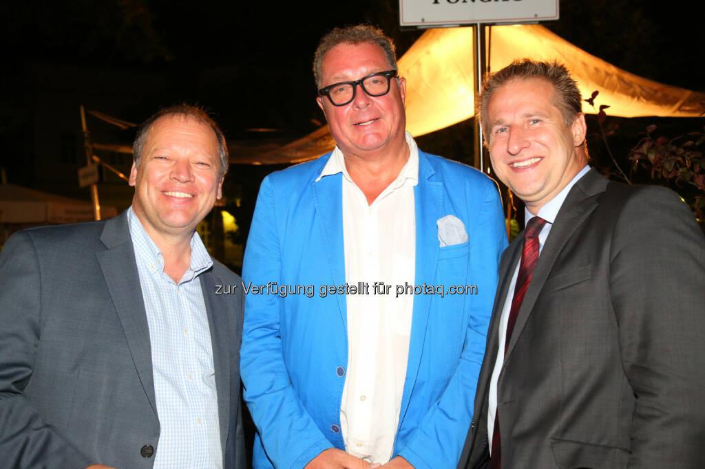 Matthias Settele (Markíza - Slovakia), Wolfgang Fischer (Wiener Stadthalle), Markus Pohanka (Austro Control), © APA-Fotoservice/Ludwig Schedl (30.08.2016)