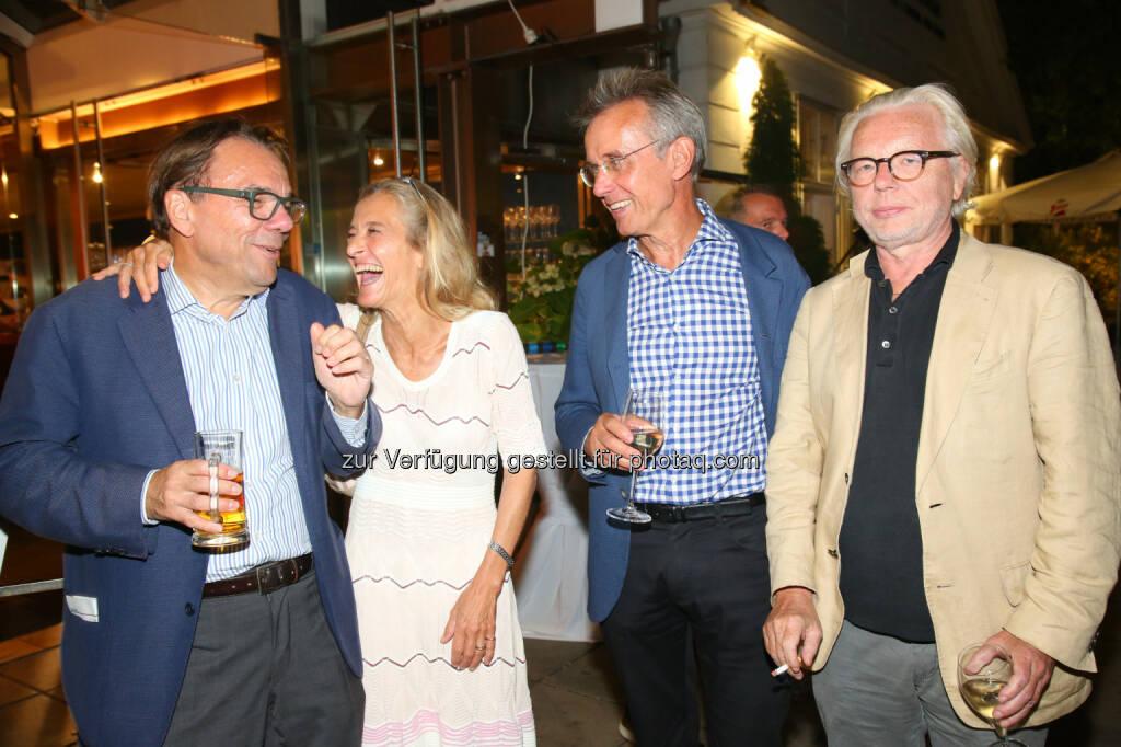 Karl Krammer (Krammer Consultants Politics & Media GmbH), Kathrin Zechner (ORF), Robert Wiesner (ORF), Joachim Riedl (Die Zeit), © APA-Fotoservice/Ludwig Schedl (30.08.2016)