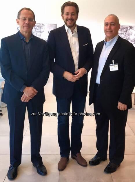 Chemi Peres, Harald Mahrer, Eugene Kandel (31.08.2016)