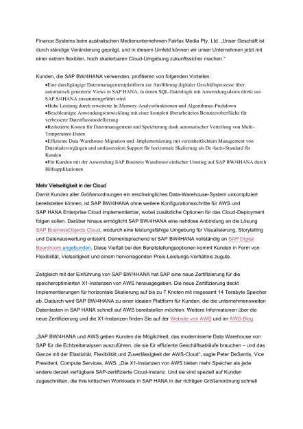 SAP modernisiert Data Warehousing, Seite 2/4, komplettes Dokument unter http://boerse-social.com/static/uploads/file_1697_sap_modernisiert_data_warehousing.pdf (31.08.2016)