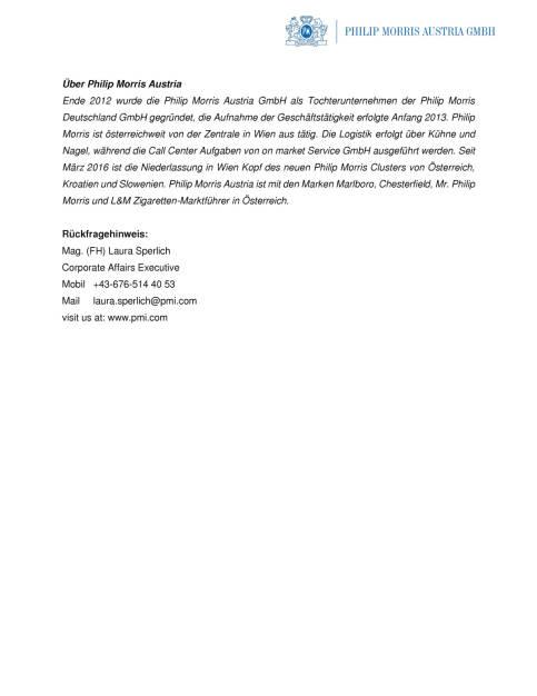 Philip Morris Austria: Michael Zerbin ist neuer Vertriebsleiter, Seite 2/2, komplettes Dokument unter http://boerse-social.com/static/uploads/file_1703_philip_morris_austria_michael_zerbin_ist_neuer_vertriebsleiter.pdf (01.09.2016)
