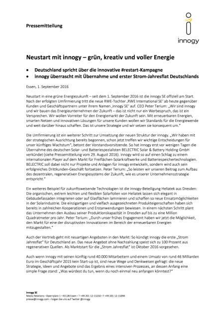 innogy SE: Start mit 1. September, Seite 1/3, komplettes Dokument unter http://boerse-social.com/static/uploads/file_1706_innogy_se_start_mit_1_september.pdf (01.09.2016)