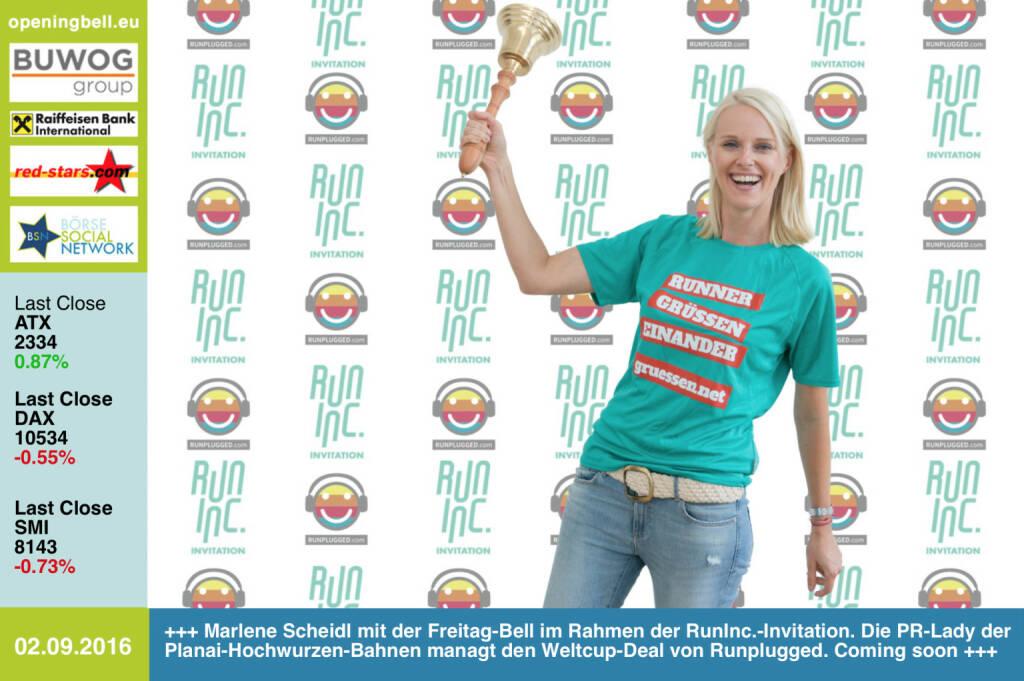 #openingbell am 2.9.: Marlene Scheidl mit der Opening Bell für Freitag im Rahmen der RunInc.-Invitation. Die PR-Managerin der Planai-Hochwurzen-Bahnen managt den Weltcup-Deal von Runplugged. Coming soon ... http://www.planai.at/ http://www.runinc.at http://www.runplugged.com http://www.openingbell.eu (02.09.2016)