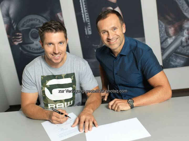 Marcel Hirscher (Ski-Gesamtweltcupsieger), Gottfried Wurpes (CEO The Fitness Company) : Marcel Hirscher ist neuer Technogym-Markenbotschafter : Fotocredit: the fitness company