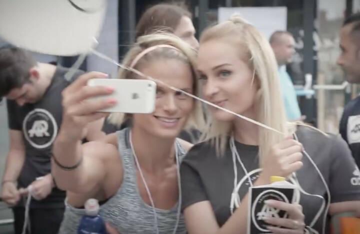 Selfie adidas runners Wien
