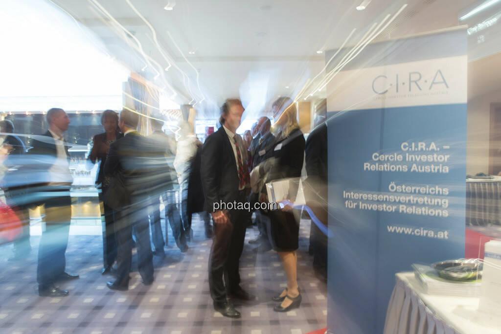 C.I.R.A. Konferenz in Wien, die Testimonials sind Andreas Posavac (Ipreo) und Barbara Braunöck (Wienerberger), © Martina Draper (15.12.2012)