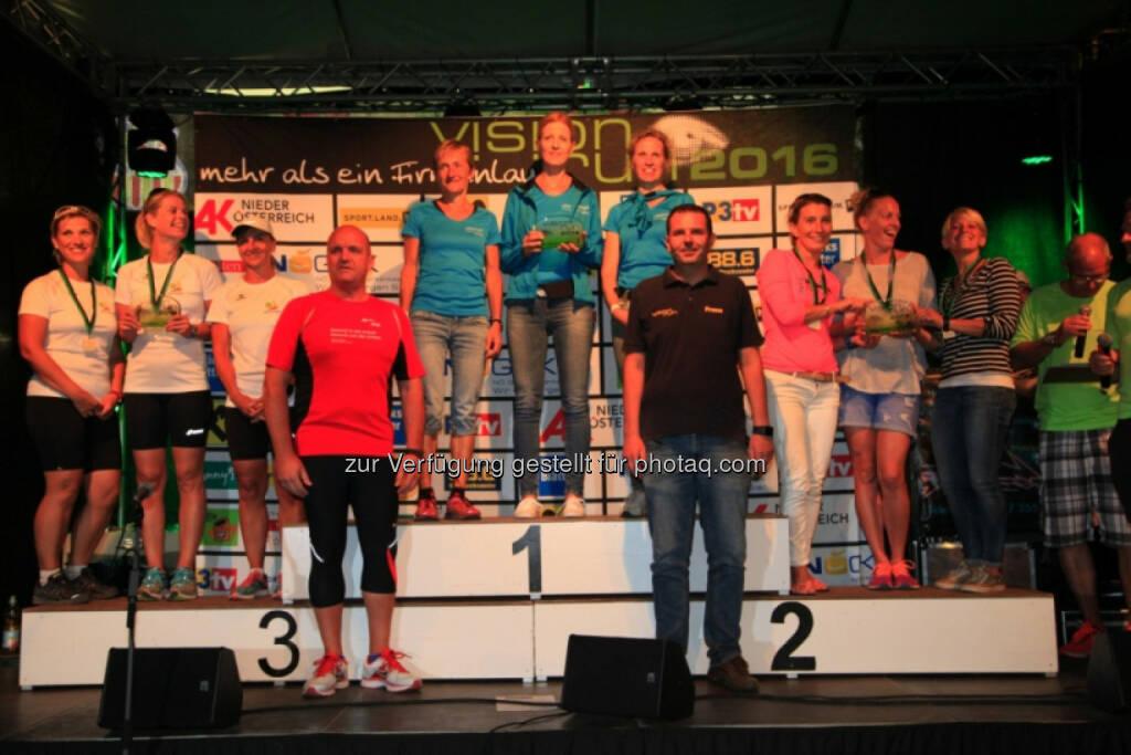 Vision Run, Siegerehrung, © Vision Run, Foto Viertbauer (05.09.2016)