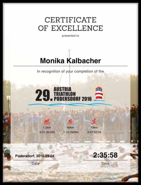 Monika Kalbacher, Triathlon Podersdorf (05.09.2016)