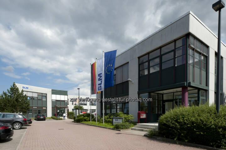 SLM Solutions Zentrale Lübeck (Bild: SLM Solutions https://slm-solutions.de/presseportal/bildmaterial-unternehmen )