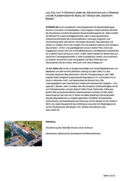 Strabag: Großauftrag für schwedische Tochter Züblin Scandinavia AB, Seite 2/2, komplettes Dokument unter http://boerse-social.com/static/uploads/file_1753_strabag_grossauftrag_fur_schwedische_tochter_zublin_scandinavia_ab.pdf (09.09.2016)