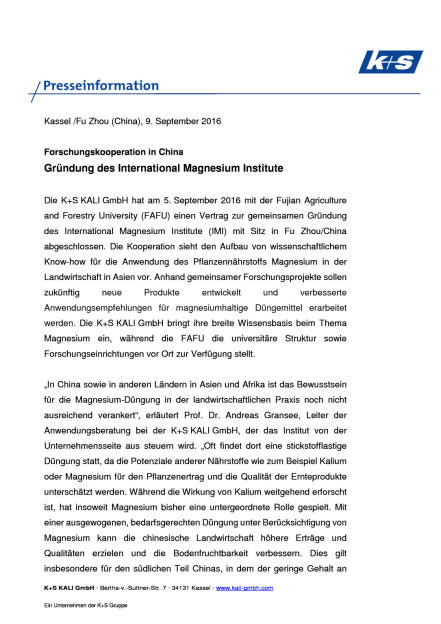 K+S AG: Forschungskooperation in China, Seite 1/2, komplettes Dokument unter http://boerse-social.com/static/uploads/file_1755_ks_ag_forschungskooperation_in_china.pdf (09.09.2016)