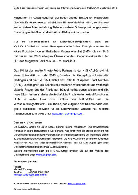K+S AG: Forschungskooperation in China, Seite 2/2, komplettes Dokument unter http://boerse-social.com/static/uploads/file_1755_ks_ag_forschungskooperation_in_china.pdf (09.09.2016)