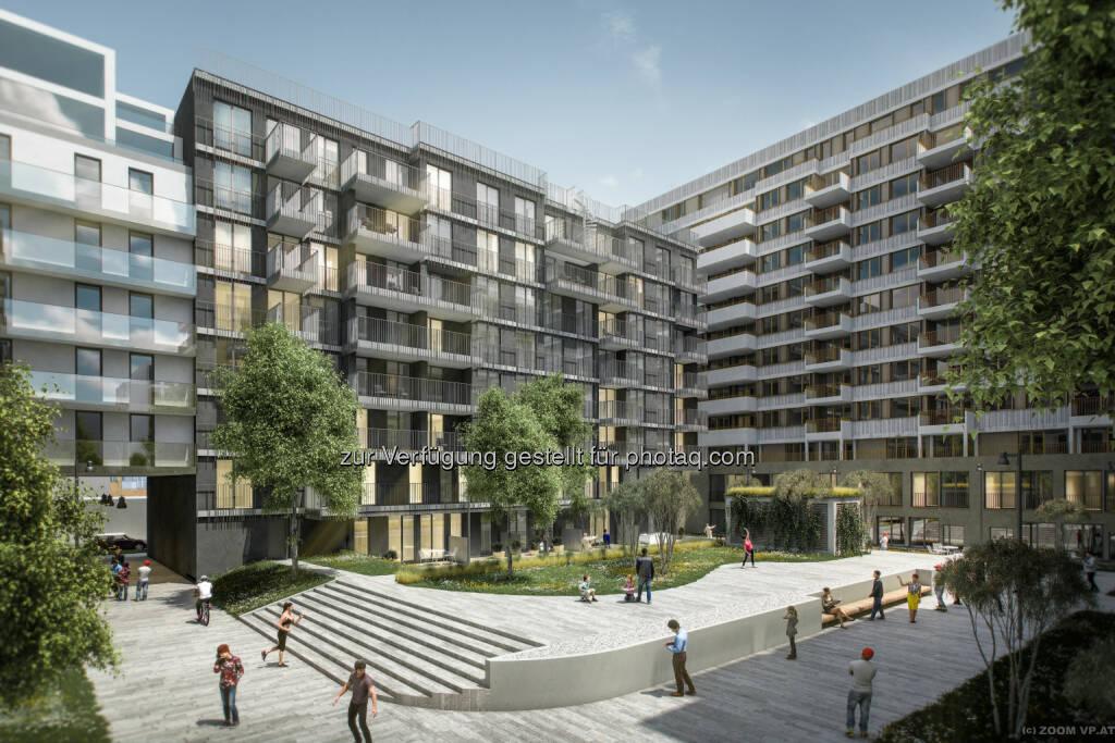 Visualisierung Laend Yard - Erdberger Lände 26 : Das Laend Yard für Wien : JP Immobilien, CA Immo, Porr und die RVW : Fotocredit: RVW/ ZOOM visual project gmbh, © Aussendung (09.09.2016)