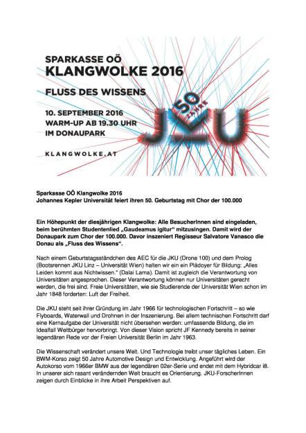 Sparkasse OÖ: Klangwolke 2016, Seite 1/2, komplettes Dokument unter http://boerse-social.com/static/uploads/file_1756_sparkasse_oo_klangwolke_2016.pdf (09.09.2016)