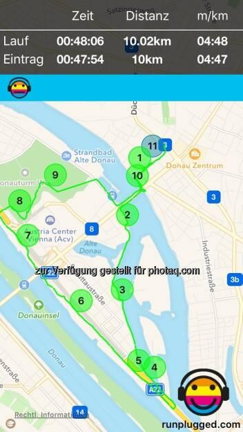 Die 10k mit Christian Mayerhofer auf http://www.runplugged.com/app (10.09.2016)