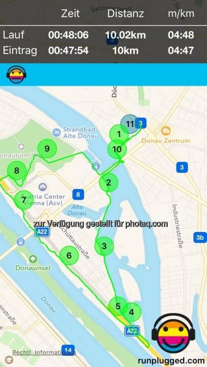 Die 10k mit Christian Mayerhofer auf http://www.runplugged.com/app