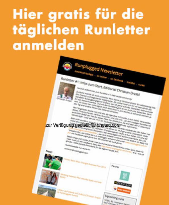 Die #1 vom neuen Runletter ist heute erschienen, http://www.runplugged.com/newsletter