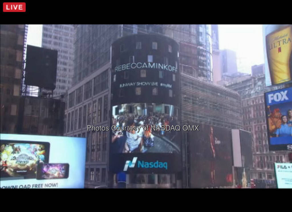 Miss out on the Rebecca Minkoff live show? Head to rebeccaminkoff.com to watch and shop the whole thing. #NYFW  Source: http://facebook.com/NASDAQ (11.09.2016)